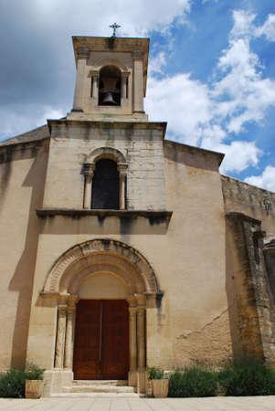 lourmarin: Small stone church, Lourmarine village, Vaucluse department, Provence, France