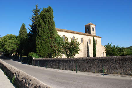 vaucluse: The Protestant temple, Lourmarine village, Vaucluse department, Provence, France