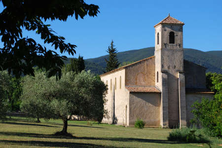 The Protestant temple, Lourmarine village, Vaucluse department, Provence, France