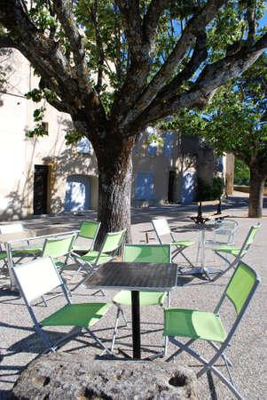 lourmarin: Outdoor bar, Lourmarin village, Vaucluse, Provence, France