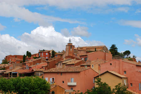 Ocher colorful historical village of Roussillon, Provence, France photo