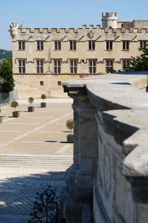 Petit Palais, museum building of art in the main square of Avignon town, Provence, France