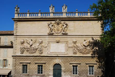 Hotel des Monnaies, baroque palace of conservatory, Avignon, Provence, France Stock Photo - 22947577