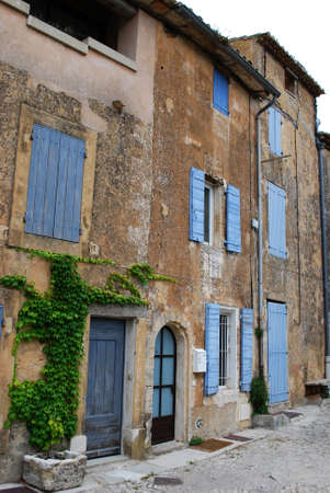 Typical old stone houses in Gordes village, Vaucluse, Provence, France Editorial