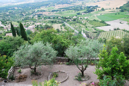 Landscape of countryside view from Gordes village, Vaucluse, Provence, France