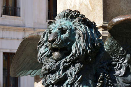 risorgimento: The winged lion symbol of the Serenissima republic of Venice