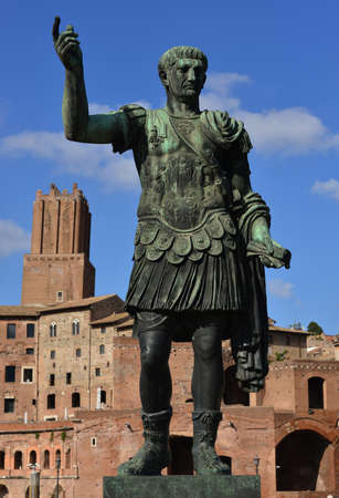 strenght: Emperor Trajan with his forum and Torre delle Milizie in the backgorund