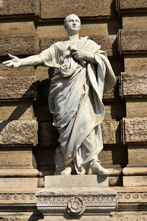 govern: Marble Statue of the famous orator Cicero