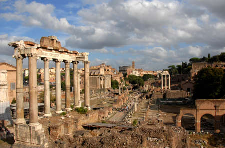 ruins is ancient: Foro Romano, the centre of Ancient Rome