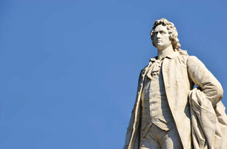 Marble statue of the Goethe with copy space Foto de archivo