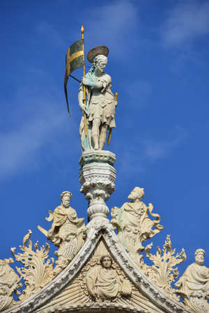 spires: Beautiful spires, freizes, and statues of San Marco in Venice