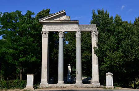 villa borghese: Part of a temple in Villa Borghese park in Rome
