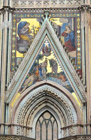 orvieto: The beautiful gothic Orvieto Cathedral Foto de archivo