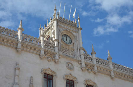 neogothic: Rossio Station Clock Tower in neogothic style