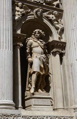 govern: Monument of Francesco Barbaro from the Santa Maria del Giglio church in Venice (17th century)