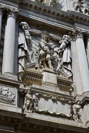barbaro: Monument of Antonio Barbaro from the Santa Maria del Giglio church in Venice (17th century)
