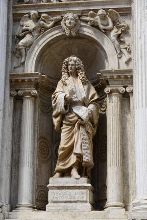 barbaro: Monument of Giovanni Maria Barbaro from the Santa Maria del Giglio church in Venice (17th century) Stock Photo