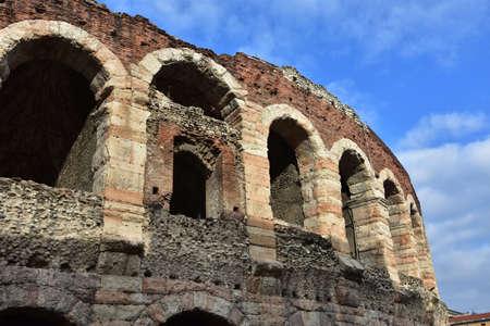 verona: Verona Arena arches Stock Photo