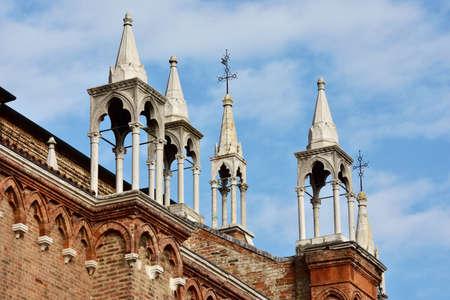spires: Gothic spires from Santa Maria dei Frari church in Venice