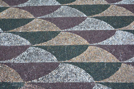 mosaic floor: Beautiful mosaic floor from Baths of Caracalla in Rome