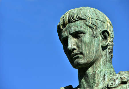 general knowledge: Augustus bronze statue from Imperial Forum, in the center of Rome