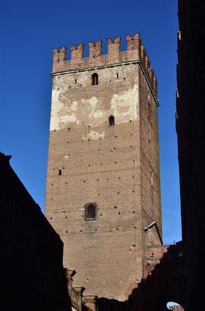 tallest bridge: The tallest tower of Verona Castelvecchio, beside Scaliger Bridge