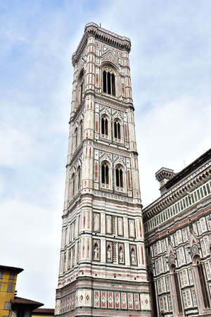 polychrome: Giottos bell tower with its wonderful gothic polychrome marbles