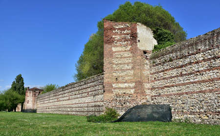 surviving: One of the last surviving sections of the Vicenza medieval walls