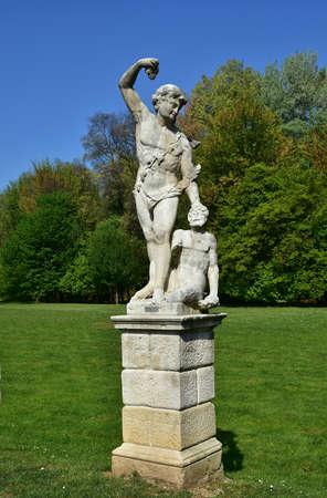 bacchus: 18th century statue of Bacchus inside Querini public park, in the center of Vicenza