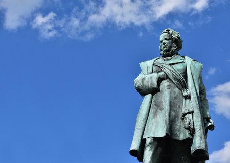 revolutions: Bronze statue of Daniele Manin, italian patriot and President of Venice Republic during 1848 revolt against Austrian Empire, made by artist Borro in 1875