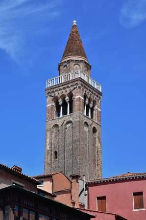 conical: San Polo typical conical belfry in Venice