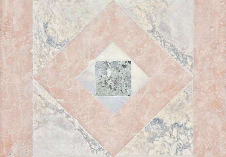 rhomb: Ancient marble slab with rhomb from St Zechariah renaissance facade in Venice