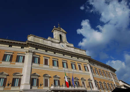 italian politics: Italian Chamber of Deputies (Parliament) in the historic center of Rome, designed by the famous baroque architect Carlo Fontana in the 17th century Editorial