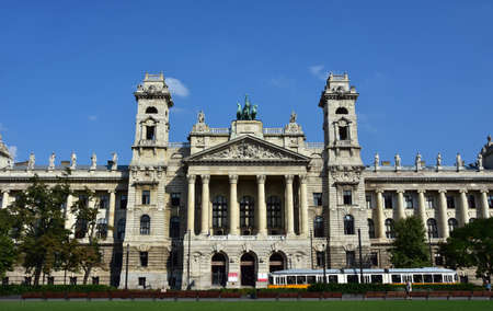 ethnographic: Budapest, Hungary, September 15, 2016: Ethnographic Museum, former Palace of Justice, designed by famous hungarian architect Hauszmann and completed in 1896, in Kossuth Square