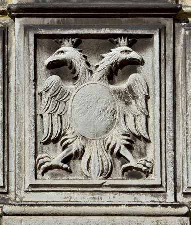 Double-headed eagle, symbol of the holy roman empire, on a Venice wall