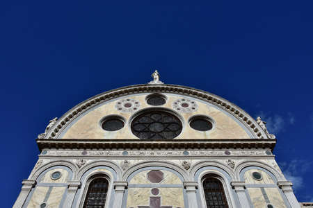 Renaissance facade of Saint Mary of the Miracles in Venice