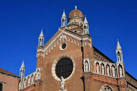 Beautiful gothic decoration of Santa Maria dellOrto church in Venice (15th century) Stock Photo