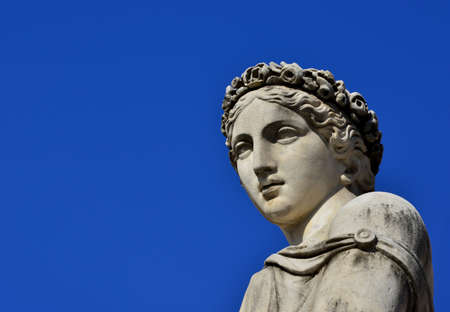 Ancient Roman or Greek goddess marble statues (with copy space) Archivio Fotografico