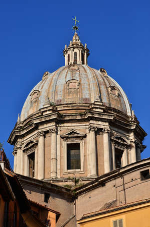 maderno: SantAndrea della Valle (Saint Andrew) beautiful baroque dome in Rome, completed by famous architect Carlo Maderno in 1608