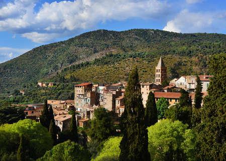 Panorama de la vieille ville de Tivoli, une belle petite ville près de Rome Banque d'images