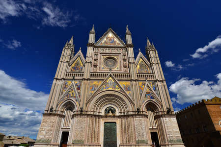Beautiful gothic Orvieto Cathedral in Umbria, Italy