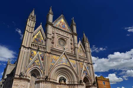 Belle cathédrale gothique d'Orvieto en Ombrie, en Italie