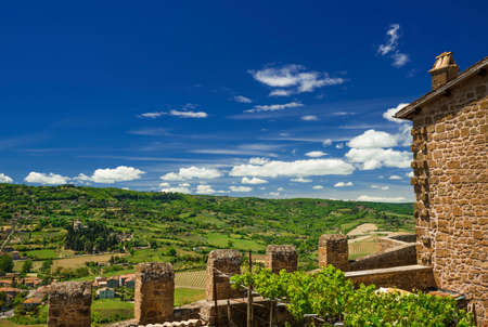 Orvieto ancient medieval city walls and countryside panorama