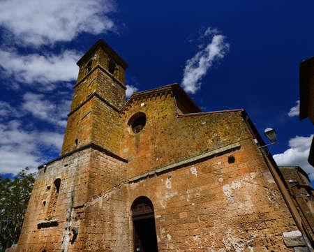 Chiesa di San Giovenale médiévale, l'une des plus anciennes églises du centre historique d'Orvieto en Ombrie, en Italie