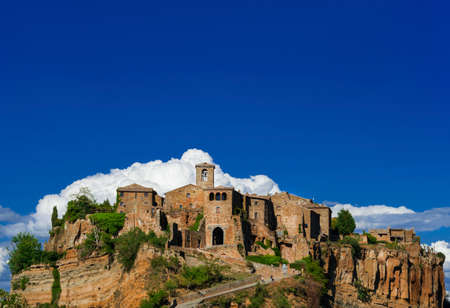 Civita di Bagnoregio the town that is dying medieval historic center near Rome