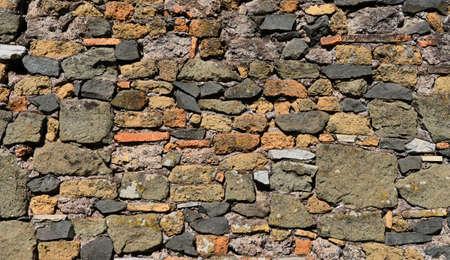 Ancien fond de mur en pierre composite Banque d'images