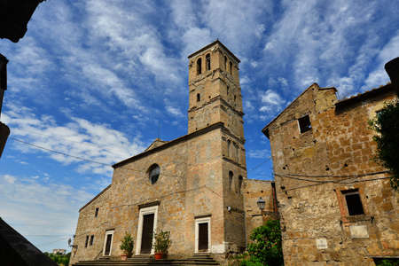 Medieval Church of San Giuliano in the center of the ancient ruined of Faleria, a small city near Rome Banque d'images