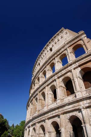 Colisée monumentale dans le centre de Rome (avec espace copie)