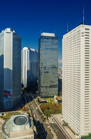 Tokyo, Japan, November 4, 2017: Shinjuku Financial District Skyscrapers Éditoriale