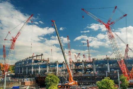 Tokyo, Japon, 10 novembre 2017: Nouveau stade national de Tokyo en construction dans le district de Shinjuku pour les Jeux olympiques d'été de 2020 Éditoriale